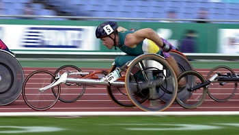 John MacLean (AUS) 10km heat Wheelchair Athletics 2000 Sydney PG